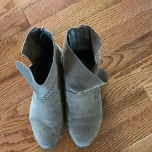 Free Suede booties w purchase
